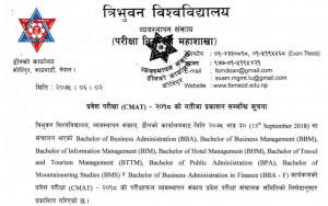 cmat exam result 2076