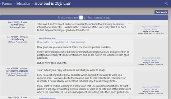 central queensland university reviews