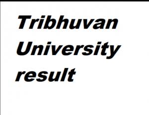 tribhuvan university result