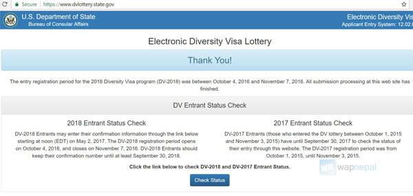 EDV 2019 Electronic Diversity Visa 2019 DV 2019 registration
