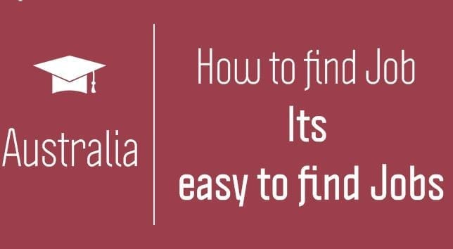 how to find job in Australia