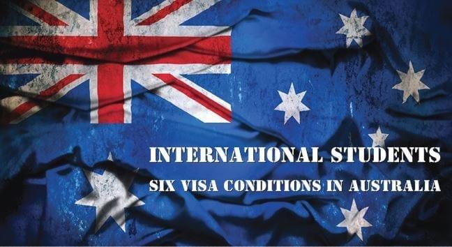 international students visa conditions australia