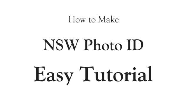 nsw photo id card