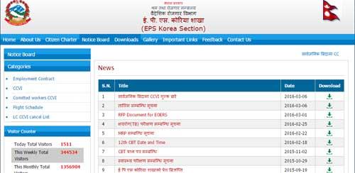 eps nepal result