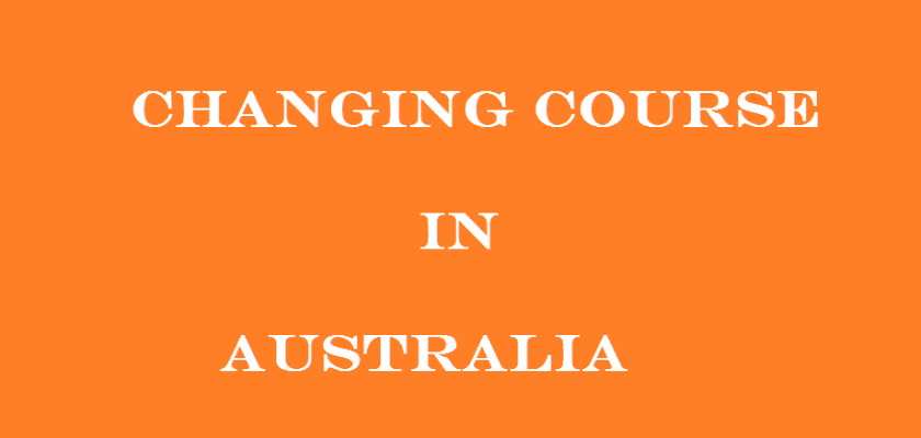 changing course in australia