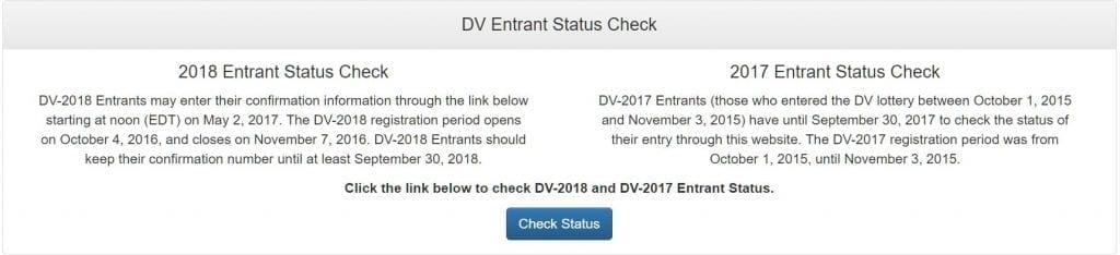 edv result online dv entrant status check