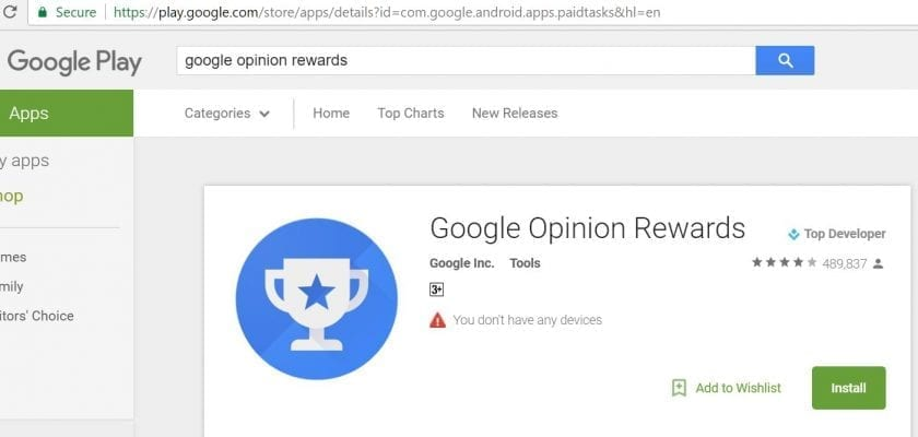 google opinion rewards australia