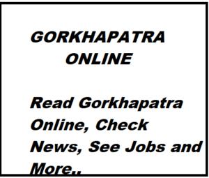 gorkhapatra daily newspaper gorkhapatra online