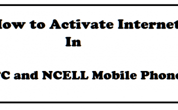 how to activate internet in ntc ncell