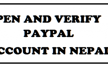 open paypal account in nepal verify