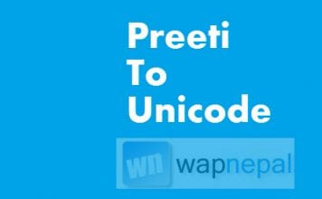 preeti to unicode
