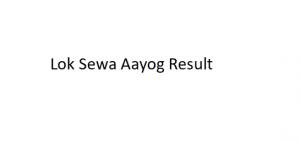 lok sewa aayog result