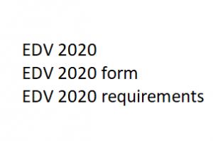 edv 2020 form