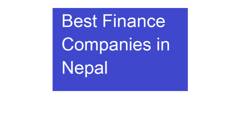 best finance company in nepal