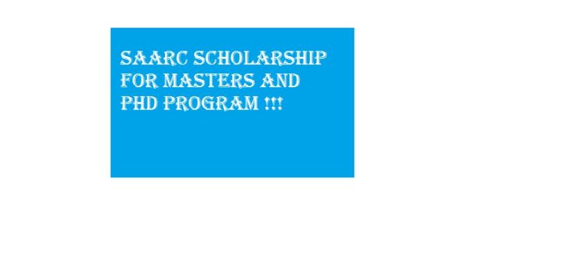 SAARC scholarship