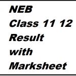 neb 11 12 result