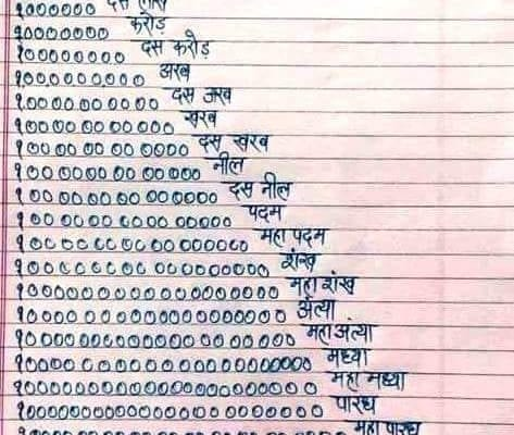 nepali counting numbers