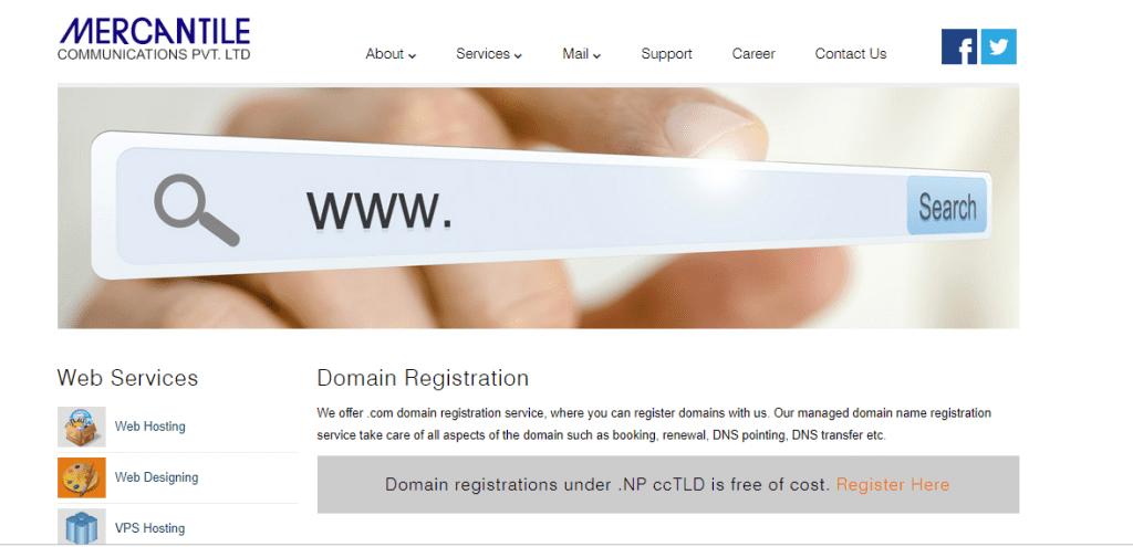 Mercantile domain registration