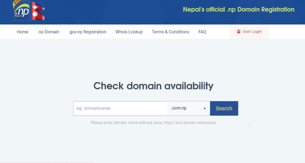 .com.np domain availability