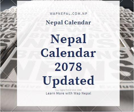 Nepal calendar 2078