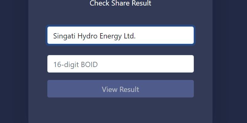 singati hydropower ipo result